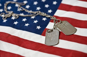 dog tags n flag